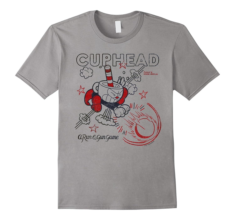 Cuphead Run & Gun Super Blast Vintage Graphic T-Shirt-ANZ