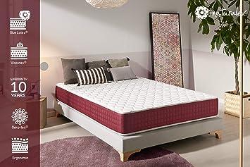 Colchon THERMESSENCE Naturalex - Espuma viscoelástica Thermosoft® - Espuma HR Blue Latex® - ergonómico 7 zonas de confort (150 x 190 cm, 24): Amazon.es: ...