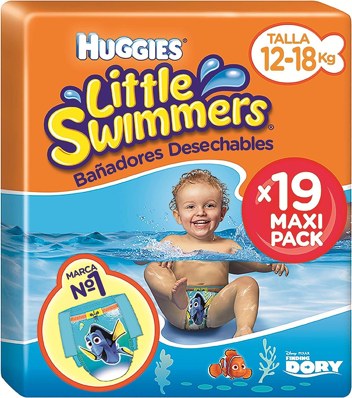 Huggies Little Swimmers Pañal Bañador Desechable Talla 5-6 (12-18 Kg) - 19 unidades