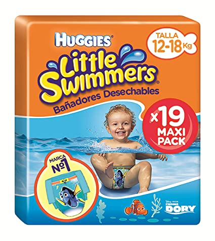 6bdf8f49f332 Huggies Little Swimmers Pañal Bañador Desechable Talla 5-6 (12-18 Kg ...