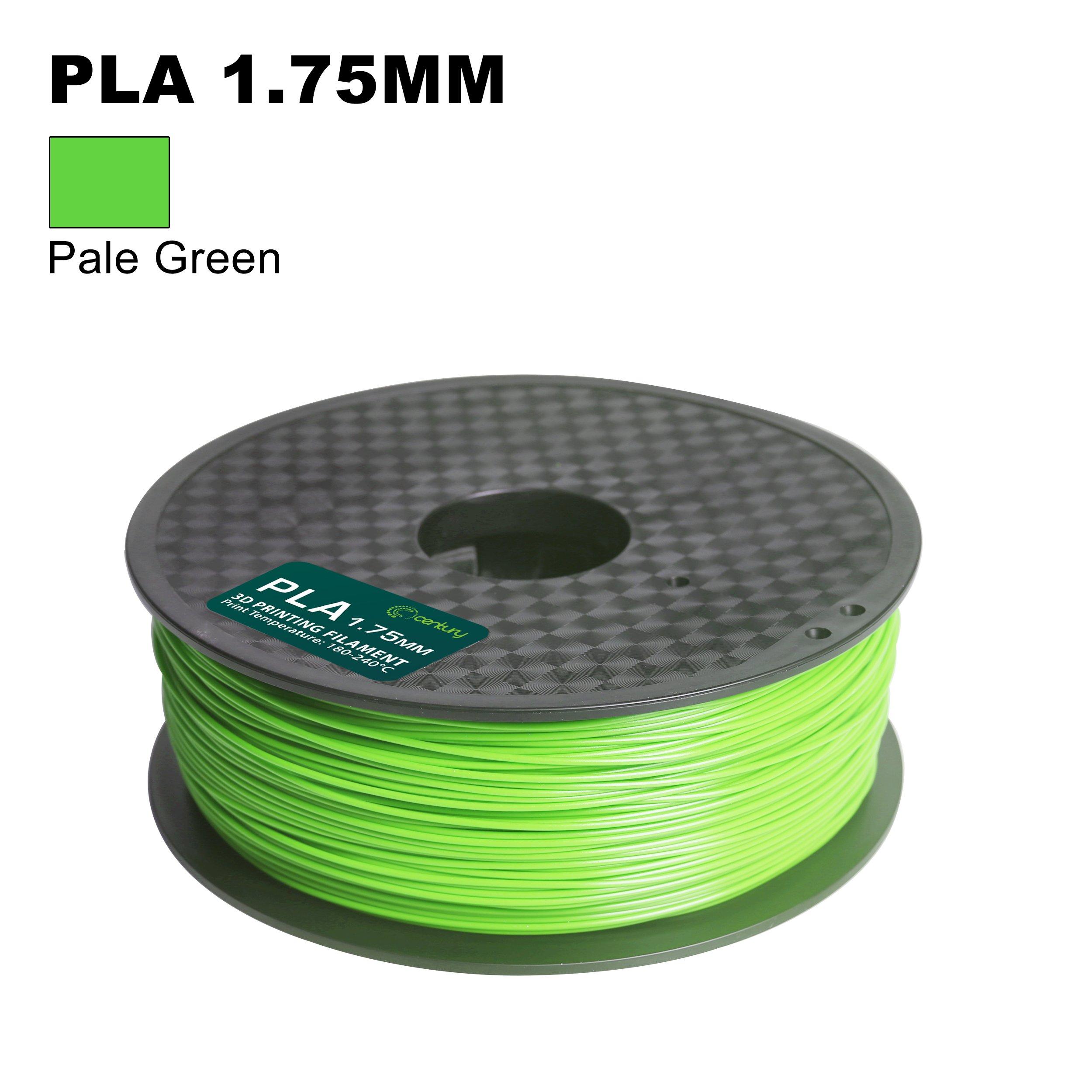 Century 3D PLA-1KG 1.75-Pale Green PLA 3D Printer Filament, Dimensional Accuracy +/- 0.05 mm, 1 kg Spool, 1.75 mm, Pale Green