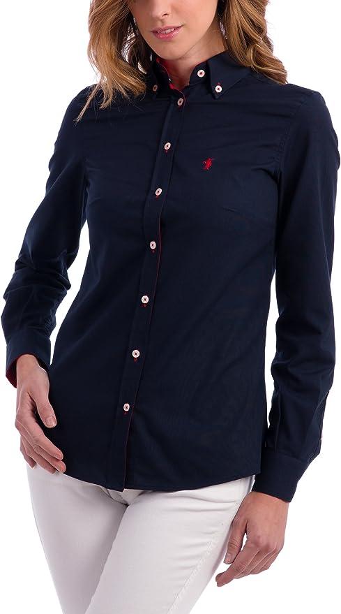 POLO CLUB Camisa Mujer Miss Rigby SS Oxford Shirt Azul Marino L ...
