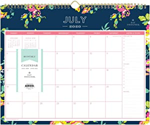 "Day Designer for Blue Sky 2020-2021 Academic Year Monthly Wall Calendar, Twin-Wire Binding, 15"" x 12"", Peyton Navy"