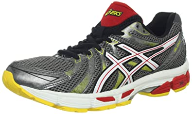ASICS Men's GEL-Exalt Running Shoe,Carbon/White/Red Pepper,8