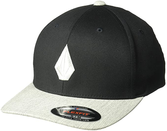 71617a22f6ded Image Unavailable. Image not available for. Colour  Volcom Men s Full Stone  Heather Flexfit Stretch Twill Hat