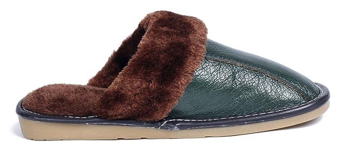 AgeeMi Shoes Damen Slip On Rund Zehe PU Pantoffeln Soft Erwachsene Hausschuhe,EuT07 Kaffee 270(38.5/39)