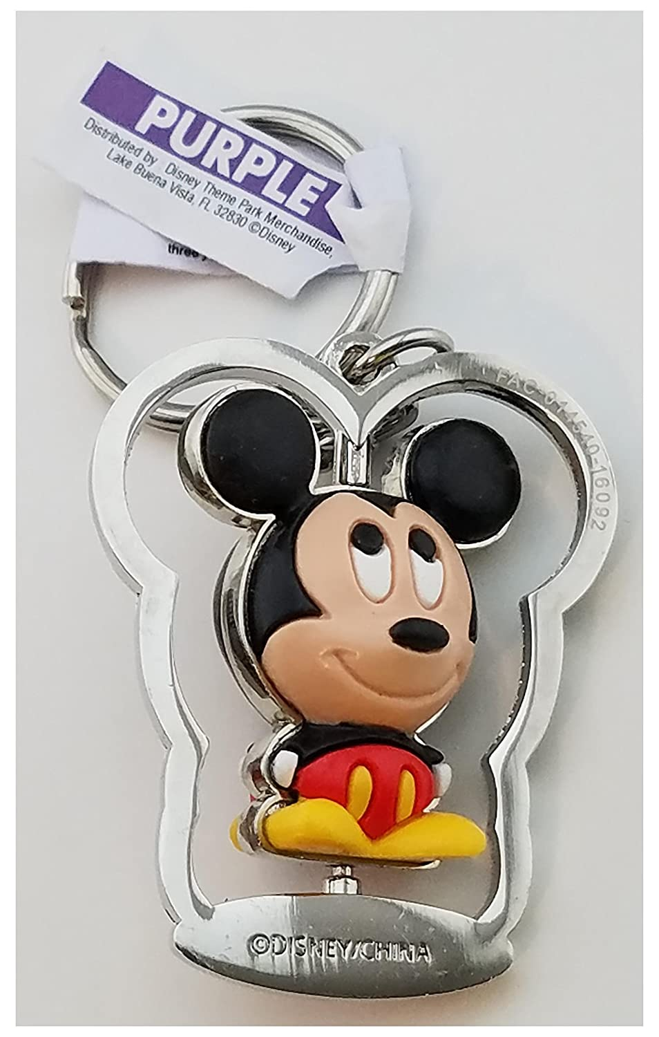 Disney Parks Keychain - Mickey Mouse Rubber Spinning