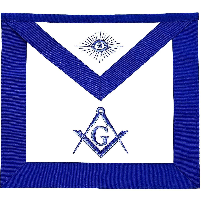Masonic Master メイソンブルー ロッジエプロン  Lambskin B07JM2RH49