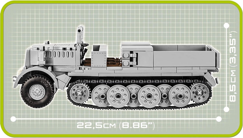 deutscher Halbkettenfahrzeug SK.KFZ 9 FAMO COBI  SET 2522 Bausatz