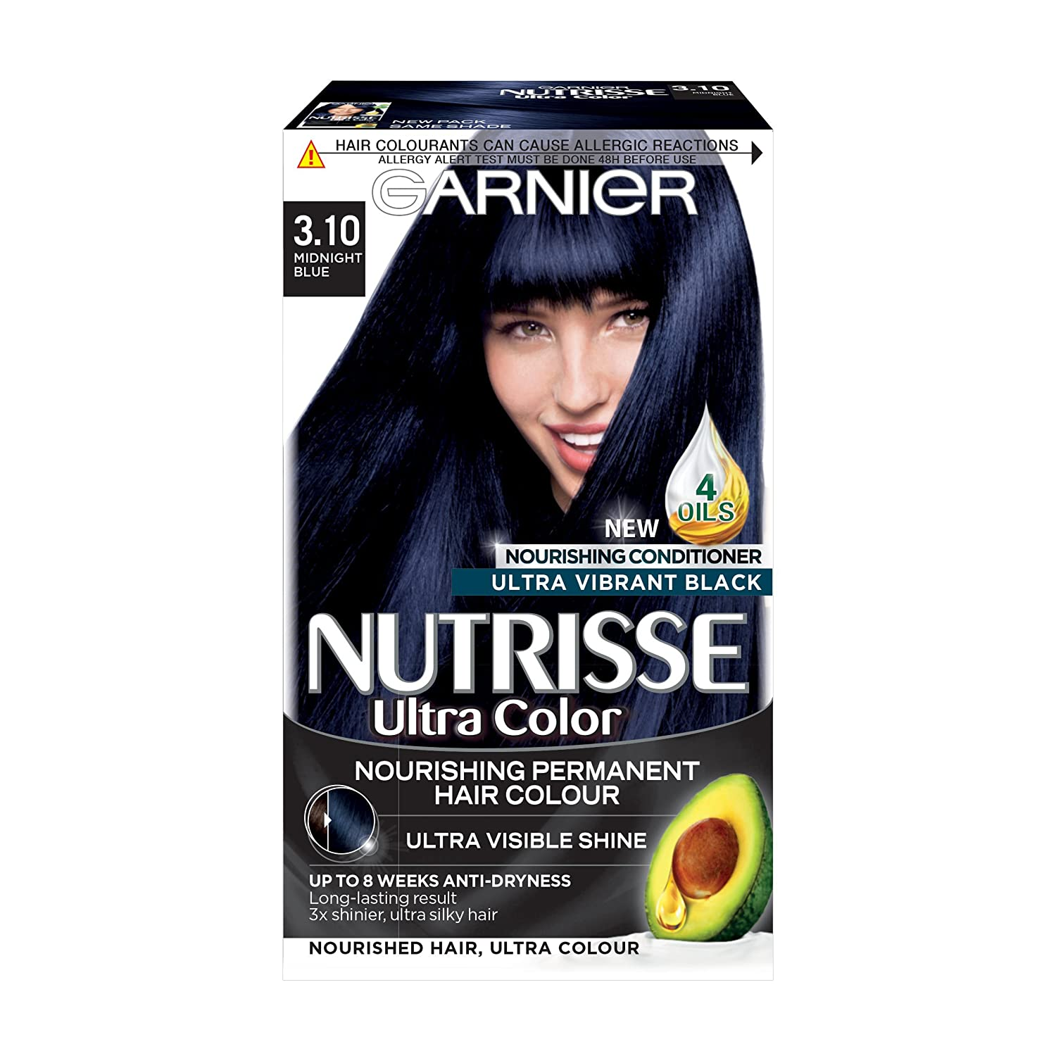 Garnier Nutrisse Permanent Hair Dye 310 Midnight Blue Amazon