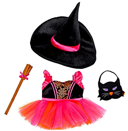 Build a Bear Workshop Witch Halloween Costume 4 pc. Dress Hat Broom Black Cat Tote  sc 1 st  Amazon.com & Amazon.com: Build a Bear Workshop Witch Halloween Costume 4 pc ...