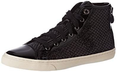 Geox D Giyo, Zapatillas Altas para Mujer, Negro, 35 EU
