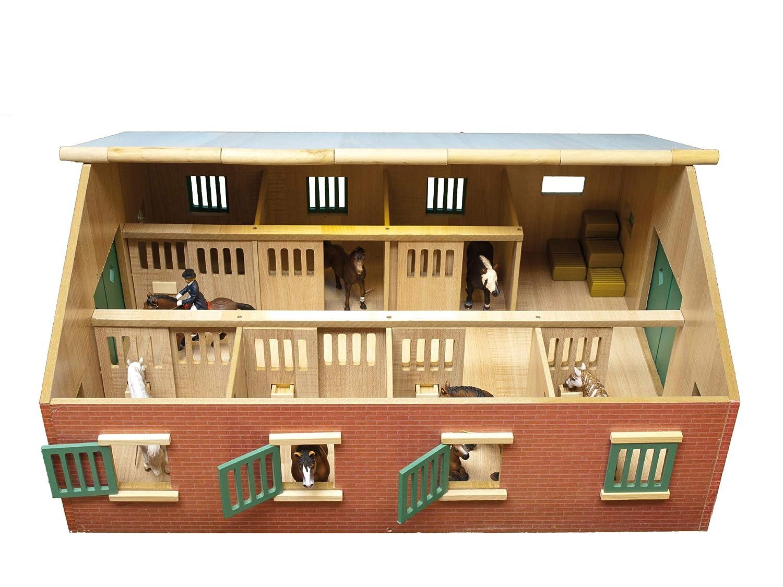 Pferdestall mit 7 Boxen für Pferde 11-13 cm - Kids Globe Farming 72,5x60x37,5cm
