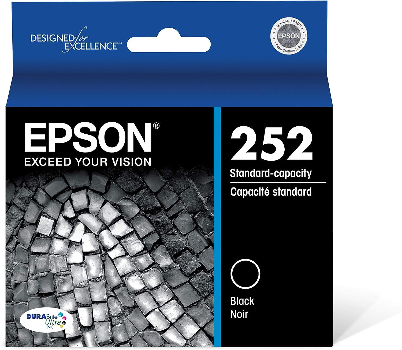 Epson T252120 DURABrite Ultra Black Standard Capacity Cartridge Ink