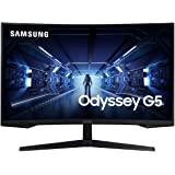SAMSUNG 32-Inch G5 Odyssey Gaming Monitor with 1000R Curved Screen, 44Hz, 1ms, FreeSync Premium, Full HD (LC32G55TQWNXZA…