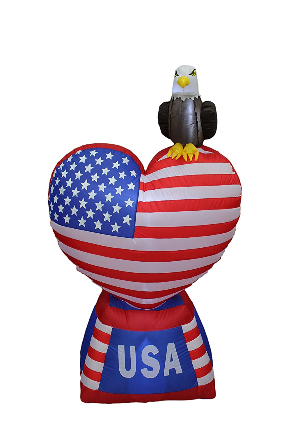 Patriotic Inflatable Heart Independence Day 4th Of July