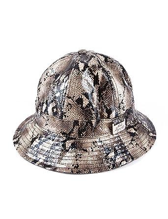 Snakeskin Fisher Bucket Hat Beige  Amazon.co.uk  Clothing 2c4ab06bf3b