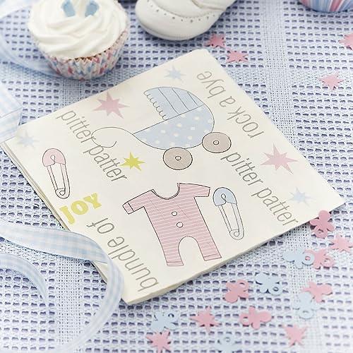 Paper Napkins   Tiny Feet Design For Christening Or Baby Shower (20 Pack)