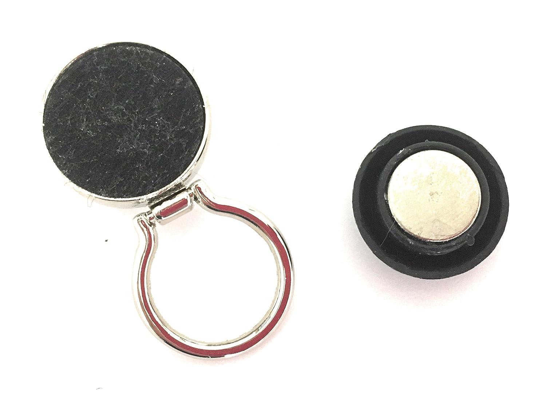 Porta occhiali magnetici, porta badge identificativo magnetico, catena per occhiali, porta per occhiali da lettura, porta occhiali da sole (Porporo)