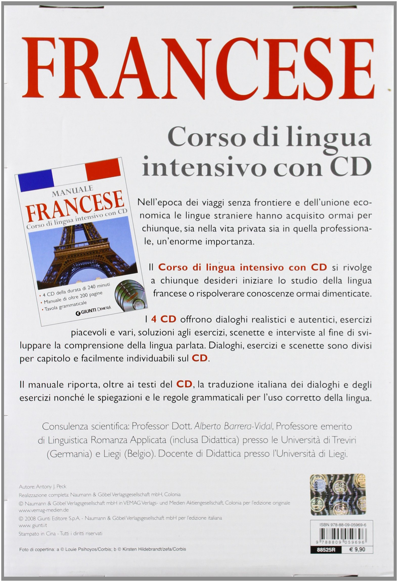 Corso di lingua. Francese intensivo. Con 4 CD Audio: 9788809059696: Amazon.com: Books