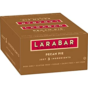 LARABAR Fruit and Nut Bar, Pecan Pie, Gluten Free, Vegan, Whole 30 Compliant, 1.6 oz Bars (16 Count)