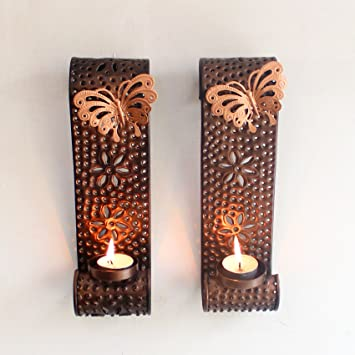 Buy tiedribbons wall sconce tea light holder with tealight candle tiedribbonsreg wall sconce tea light holder with tealight candle for home decoration wall sconces mozeypictures Image collections