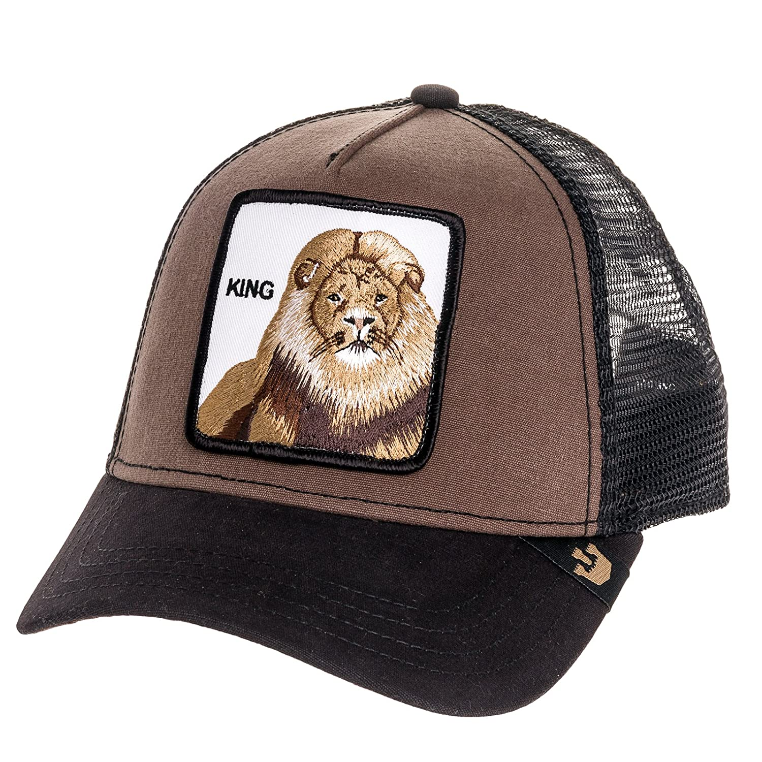 25b48910 Goorin Bros Mens King Lion Patch Trucker Cap Hat (Brown)