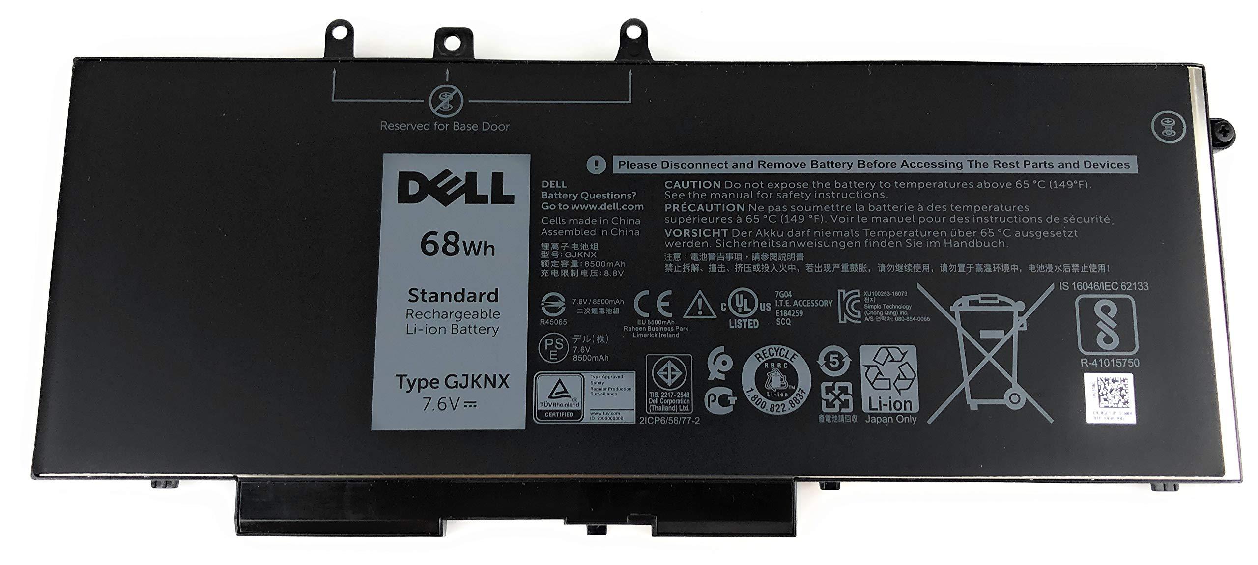 Genuine Dell Latitude 5480 E5580 5490 E5590 and Precision 3520 Notebook Battery 7.6 V 68wh GJKNX-1 by Dell (Image #1)