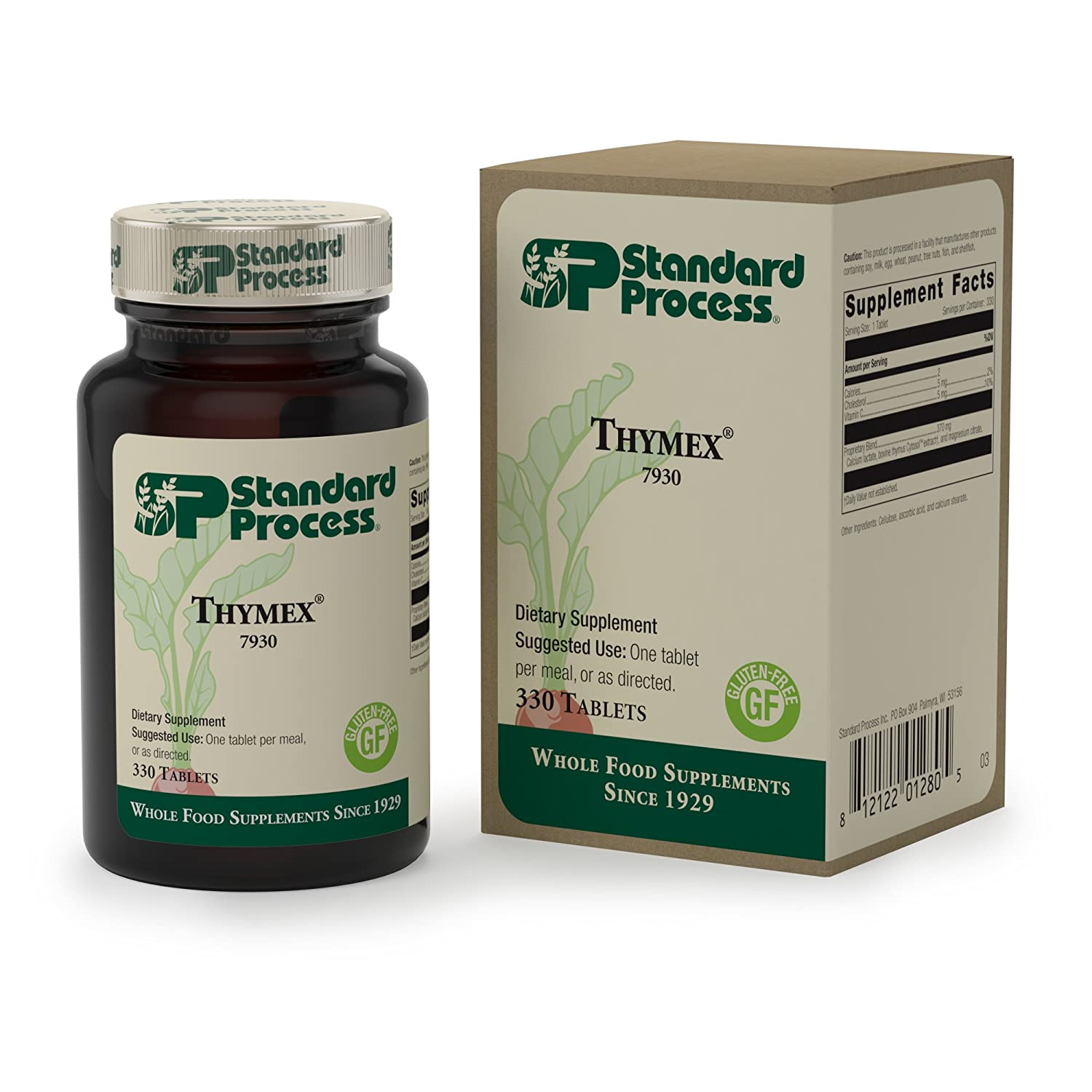 Standard Process – Thymex – Thymus Gland Support Supplement, Supports Immune System Health, Provides Antioxidant Vitamin C, Gluten Free – 330 Tablets