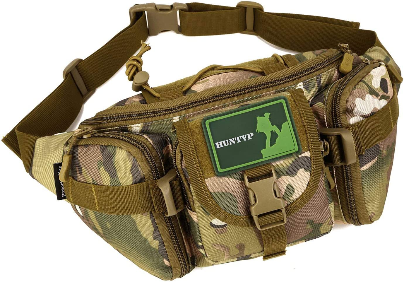 Outdoor Military Tactical Hiking Waist Fanny Pack Molle Strap Shoulder Backpack