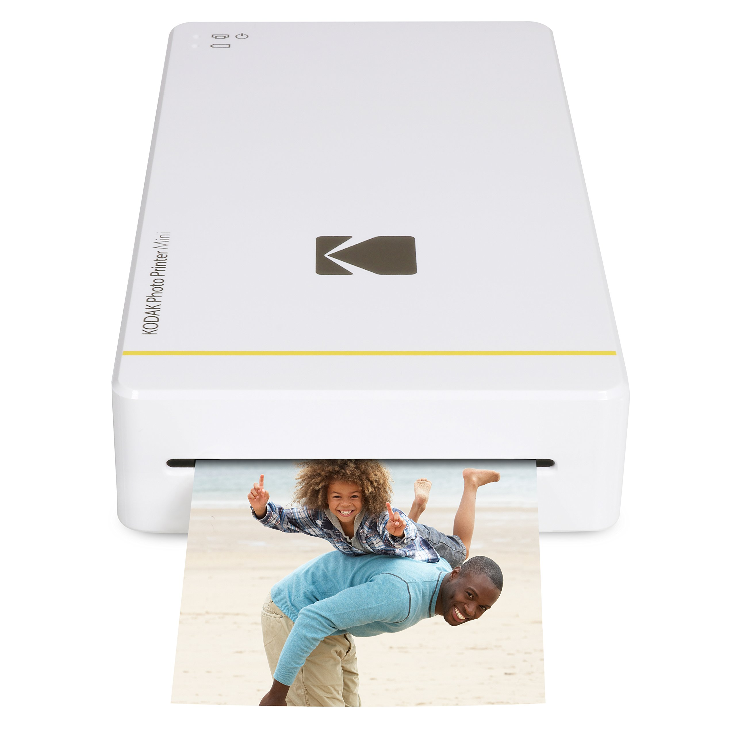 Kodak Mini Portable Mobile Instant Photo Printer - Wi-Fi & NFC Compatible - Wirelessly Prints 2.1 x 3.4'' Images, Advanced DyeSub Printing Technology (White) Compatible with Android & iOS by KODAK