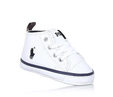 Style magnifique comment trouver acheter bien POLO RALPH LAUREN - Chaussure bébé à lacets blanche, en cuir ...