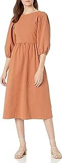 product image for Rachel Pally Women's Midi Dress, Waist Seam, Puff Sleeve Detail