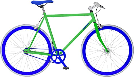 LlNEA FAUSTO COPPI Bicicleta Piñón Fijo Verde: Amazon.es ...