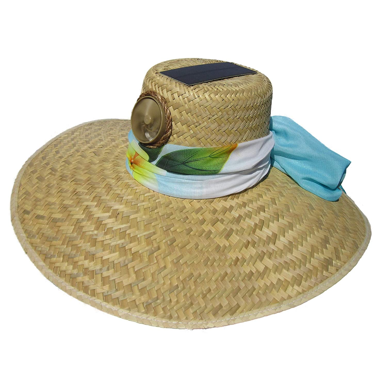 f4f5a3730 Kool Breeze Solar Cooling Hat - Lady Gardener, Woman's Hat, Solar Hat,  White Solar Powered Hat