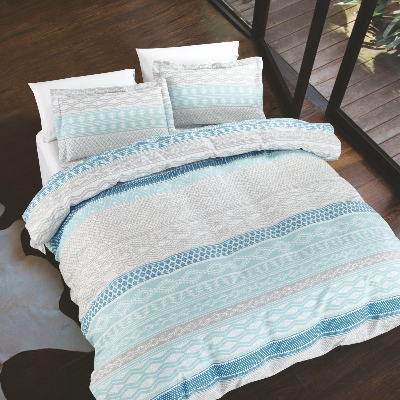 Rhythm Lightweight 100/% Cotton Luxury Quilt Sets Full//Queen Teal 3 Piece California Design Den Swank Mode