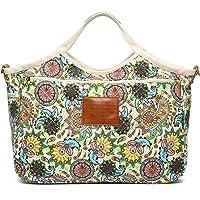 Malirona Women's Ladies Casual Vintage Hobo Canvas Daily Purse Top Handle Shoulder Tote Shopper Handbag