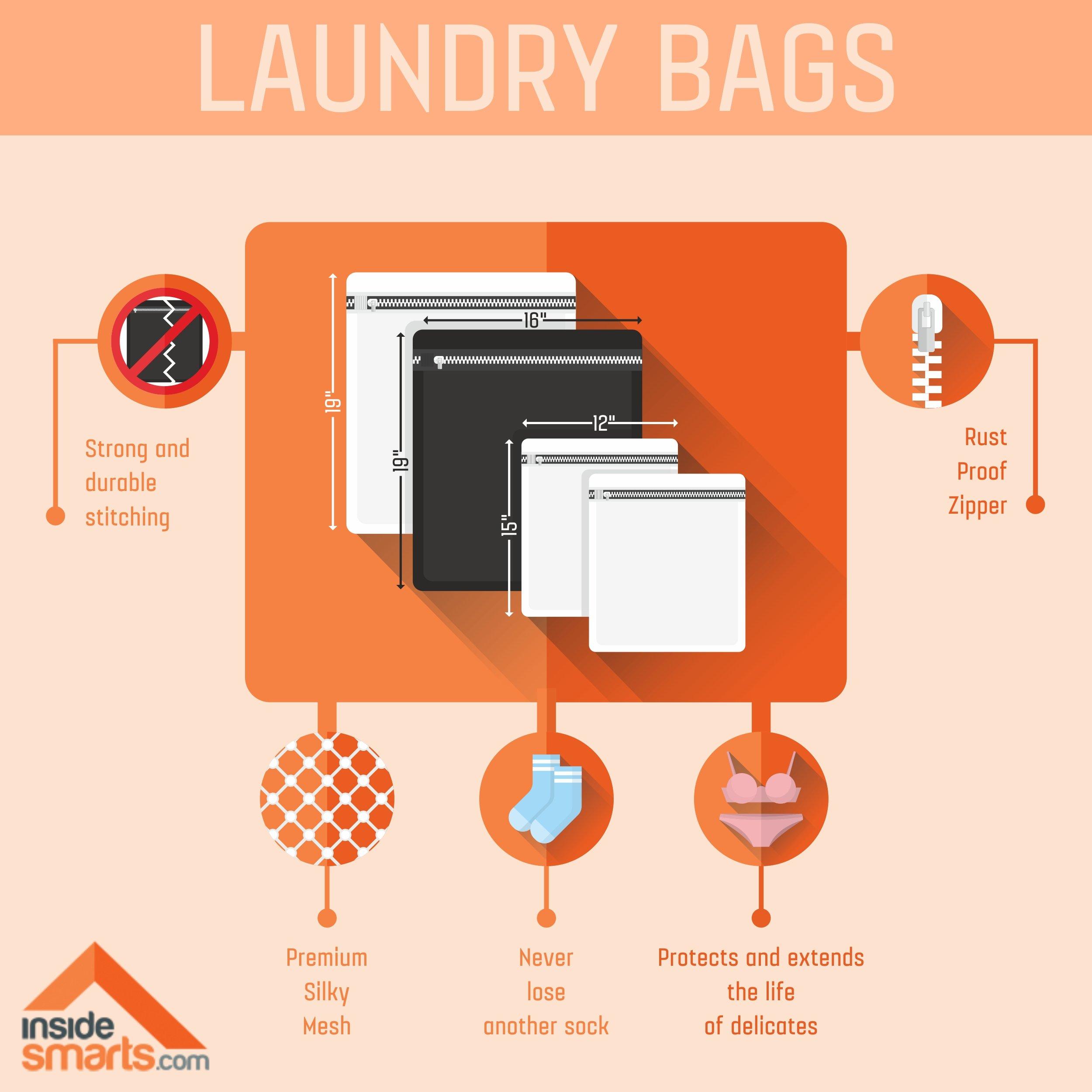 InsideSmarts Delicates Laundry Wash Bags, Set of 4 (2 Medium & 2 Large) by InsideSmarts (Image #3)