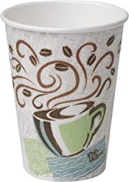 Dixie PerfecTouch 12 oz. Insulated Paper Hot Coffee Cup by GP PRO (Georgia-Pacific), Coffee Haze, 5342CDSBP, 160 Cups Per Ca