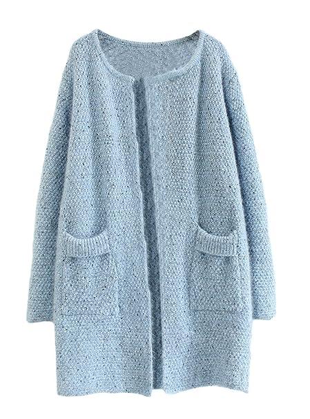 Chaqueta Primavera Mujer Moda Joven Manga Larga Splice Elegantes Cardigan Basic Ropa Pullover Punto Abrigos Color