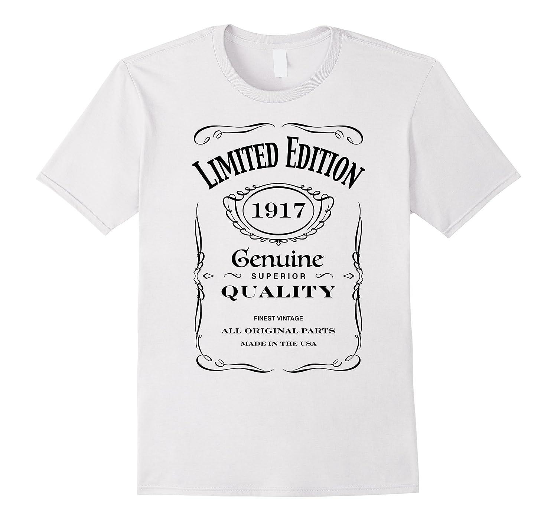 100th Birthday Gift T-Shirt - Born in 1917 Turning 100 Shirt-TH