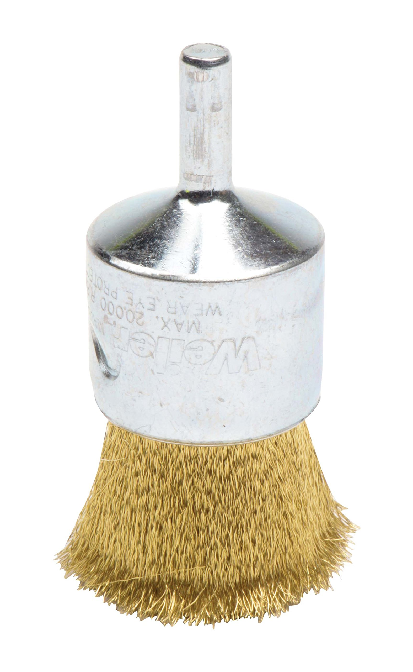 Weiler 10128 Crimped Wire End Brush, 1'', 0.05'' Brass Fill (Pack of 10)