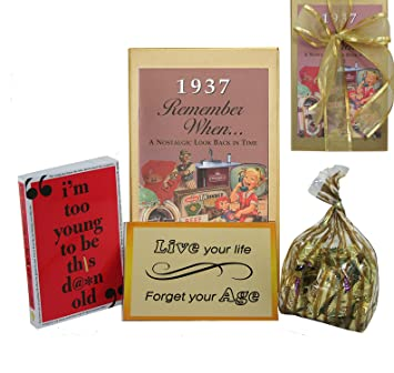 Image Unavailable Not Available For Color 80th Birthday Gift Basket