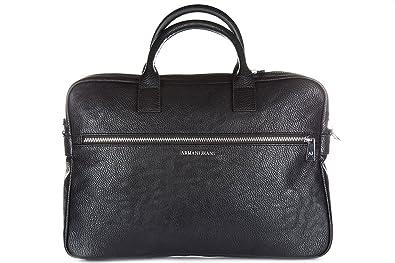 b563a348cdaf Armani Jeans sac porte-documents homme noir  Amazon.fr  Chaussures ...