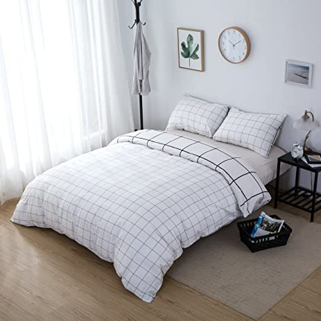 Amazon.com: ClothKnow Bed in a Bag Queen Duvet Cover Sets Full 100 ...