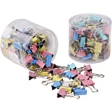 SHAFIRE Coloured Binder Clips - 15mm - Pack of 120 Clips