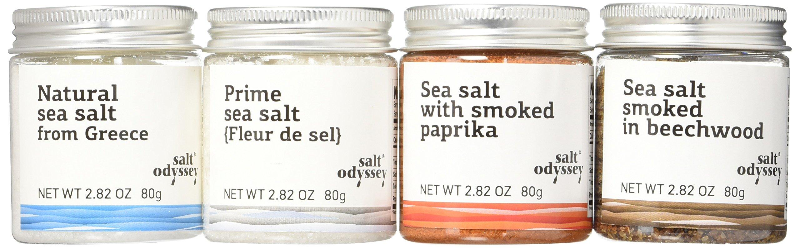 SALT ODYSSEY Four Piece A Journey of Salts Pack,The Finest Greek Salts, 320 Gram
