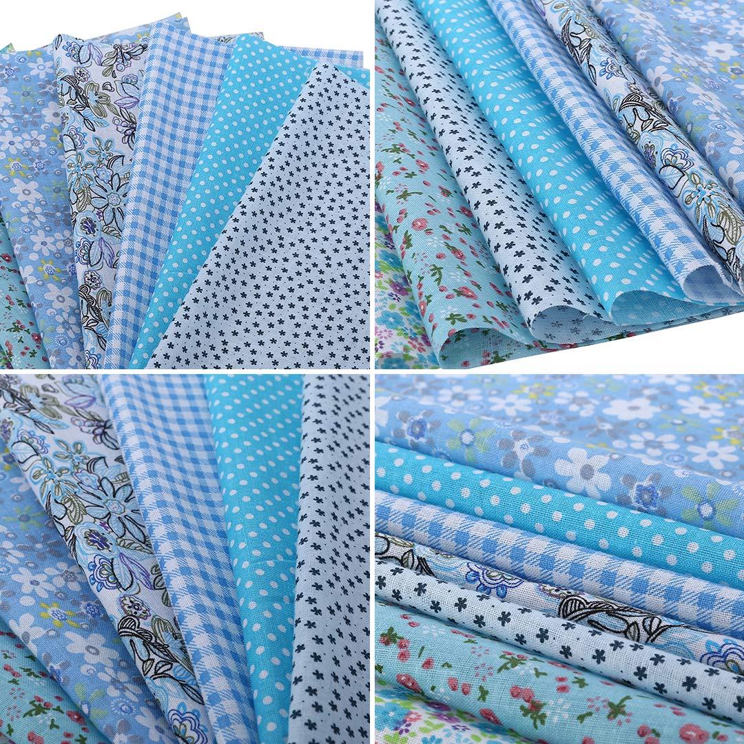 Doyime Telas de algod/ón 50 x 50 cm Costura Tejido acolchado Patchwork Ropa Artesan/ía de costura 8 piezas