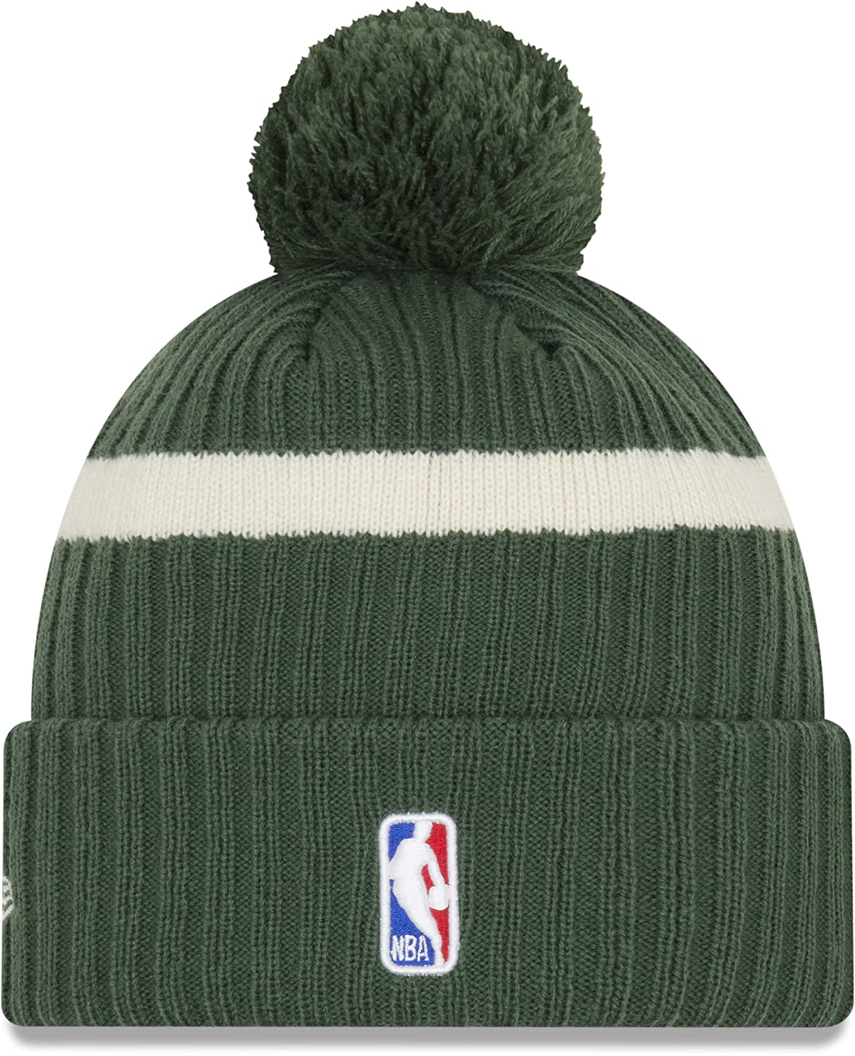 New Era NBA 2019 Draft Knit Bobble Hat Milwaukee Bucks