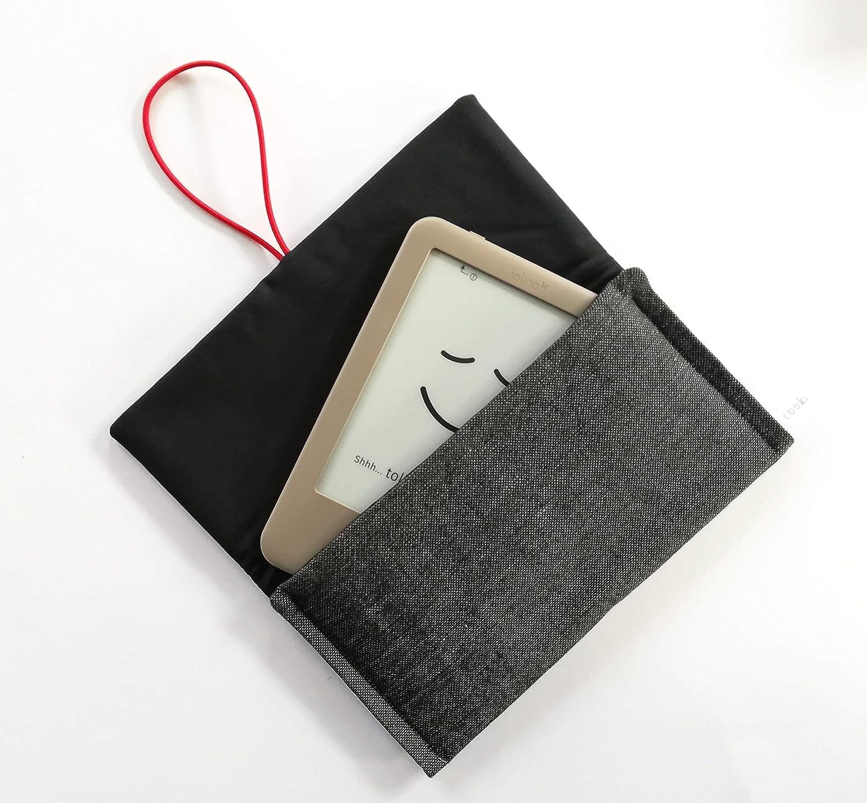 Schutzhülle für ereader oder kleines Tablet/Hülle für Lasegerät/Tasche, Cover, Sleeve, Bag für Kindle, Tolino, Feuer 7, Kobo. Grau, 2 Varianten